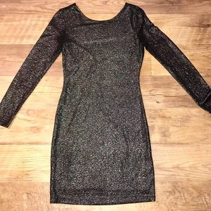 Jennifer Lopez sparkle bodycon holiday dress-XS